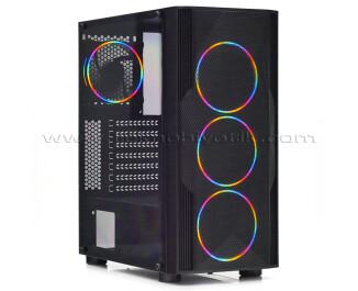 Dark Diamond PRO Mesh 4x12cm FRGB Fan, Full Akrilik Yan Panel, USB 3.0 Bilgisayar Kasası (DKCHDIAMONDPROMS)