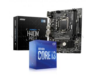 Intel Core i3-10100F 3.6GHz 10. Nesil İşlemci + AsRock H470M-HDV Socket 1200 Anakart
