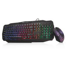Dark Force Oyuncu USB Kablolu Işıklı Türkçe Q Klavye & Mouse Set (DK-AC-GKM1000)