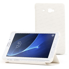 "Dark Samsung Galaxy TAB A 7"" T280 Beyaz Deri Kılıf / Book Cover (DK-AC-SMKAST280WH)"
