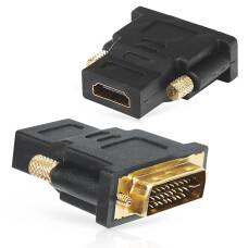 Dark HDMI - DVI-I (24+5 Pin) Dönüştürücü (HDMI dişi - DVI-I erkek) (DK-HD-AFHDMIXMDVI25)