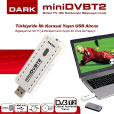 Dark MiniDVBT-2 Dijital Karasal Yayın Alıcı USB TV Kartı (DK-AC-TVUSBDVBT2)