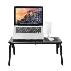 TX Ergo 31x55cm, Çift Fanlı, Katlanabilir, Yükseklik Ayarlı, Soğutuculu, Mouse Padli, Notebook Masası (TXACNBDESK)