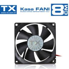 TX 8cm Siyah Sessiz Kasa Fanı (Molex) (TXCCF08BK)