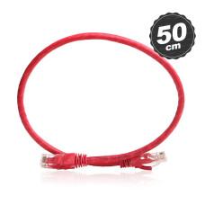 Dark 50cm CAT6 CU AWG24/7 UTP Kırmızı Network Kablosu (DK-CB-NT6U50R)